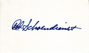 Red Schoendienst autographed 3x5 index card