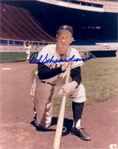 Red Schoendienst autographed 8x10 New York Giants photo