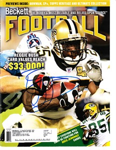 Reggie Bush autographed New Orleans Saints 2006 Beckett Football magazine cover