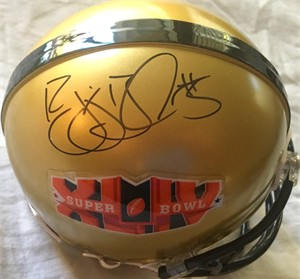Reggie Bush autographed Super Bowl 44 logo mini helmet