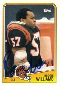 Reggie Williams autographed Cincinnati Bengals 1988 Topps card