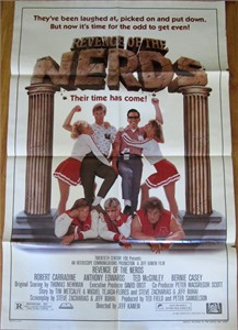 Revenge of the Nerds original 1984 full size 27x40 inch movie poster