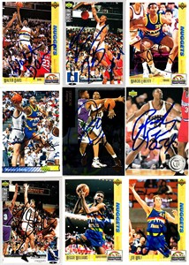 Reggie Williams autographed Denver Nuggets 1991-92 Upper Deck card
