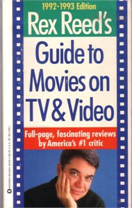 Rex Reed autographed Guide to Movies on TV & Video paperback book