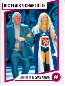 Ric Flair & Charlotte Flair 2017 Comic-Con 3x4 inch promo wrestling trading card