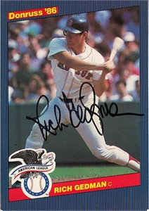Rich Gedman autographed Boston Red Sox 1986 Donruss All-Stars jumbo card