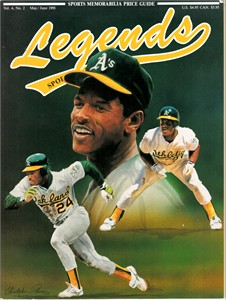 Rickey Henderson Oakland A's 1991 Legends Sports Memorabilia magazine