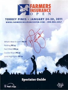 Rickie Fowler autographed 2011 Farmers Insurance Open program