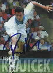 Richard Krajicek autographed 2000 ATP Tour tennis card