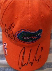 Riley Cooper & Brandon Spikes autographed Florida Gators cap or hat