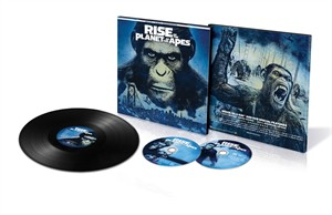 Rise of the Planet of the Apes 2017 Comic-Con exclusive vinyl soundtrack Blu-ray DVD limited edition package