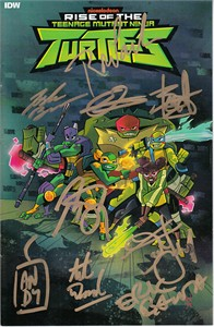 Rise of the Teenage Mutant Ninja Turtles cast autographed mini 2018 IDW comic book (Eric Bauza Kat Graham Rob Paulsen)