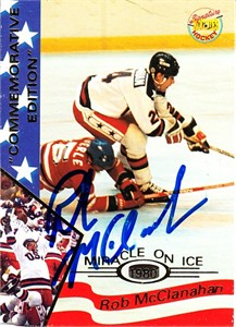 Rob McClanahan autographed 1980 Miracle on Ice 1995 Signature Rookies card