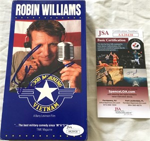 Robin Williams autographed Good Morning Vietnam VHS video box (JSA)