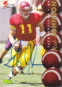 Rob Johnson certified autograph USC Trojans 1995 Classic card