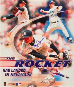 Roger Clemens autographed 1999 New York Yankees 16x20 poster size photo #40/275