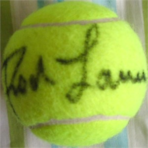 Rod Laver autographed tennis ball