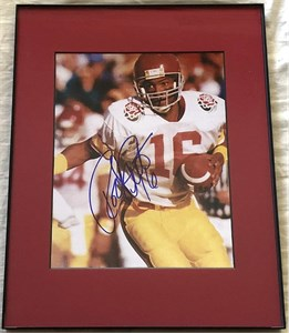 Rodney Peete autographed USC Trojans 8x10 Rose Bowl photo