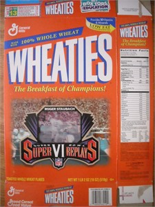 Roger Staubach Dallas Cowboys Super Bowl Replays Wheaties box