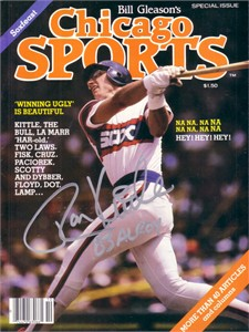 Ron Kittle autographed White Sox 1983 Chicago Sports magazine inscribed 83 AL ROY