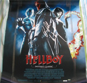 Ron Perlman autographed Hellboy 18x26 inch movie poster