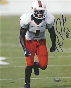 Roscoe Parrish autographed Miami Hurricanes 8x10 photo
