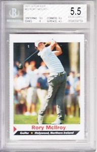 Rory McIlroy 2011 Sports Illustrated for Kids golf Rookie Card BGS graded 5.5 Ex+