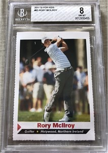 Rory McIlroy 2011 Sports Illustrated for Kids golf Rookie Card graded BGS 8.5 (Nm-Mt+)