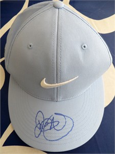 Rory McIlroy autographed blue Nike 20XI golf cap or hat