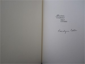 Rosalynn Carter autographed Helping Yourself Help Others hardcover book