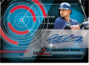 Rougned Odor Texas Rangers 2014 Topps Trajectory certified autograph card