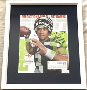 Russell Wilson autographed Seattle Seahawks 2013 ESPN Magazine