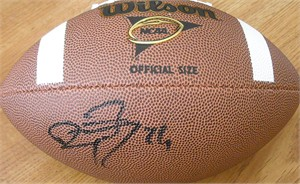 Ryan Mathews autographed Wilson NCAA football