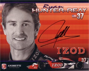 Ryan Hunter-Reay autographed Andretti photo card