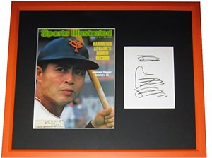 Sadaharu Oh autograph matted & framed with 1977 Sports Illustrated cover (JSA)