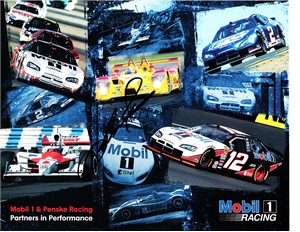 Sam Hornish Jr. autographed Mobil Racing 8x10 NASCAR photo card