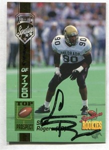 Sam Rogers Colorado Buffaloes certified autograph 1994 Signature Rookies card