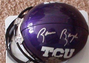 Sammy Baugh autographed TCU Horned Frogs mini helmet