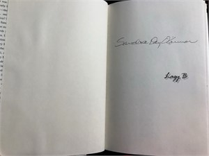Sandra Day O'Connor autographed Lazy B hardcover book