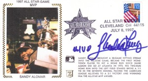 Sandy Alomar Jr. autographed Cleveland Indians 1997 MLB All-Star Game cachet envelope
