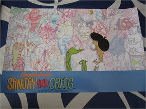 Sanjay and Craig 2014 Comic-Con Nickelodeon 11x17 promo poster