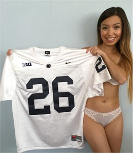 Saquon Barkley 2016 Penn State authentic Nike #26 white stitched wide cut jersey