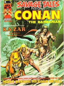 Savage Tales #5 Conan & Ka-Zar Marvel comic book magazine