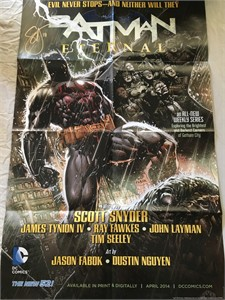 Scott Snyder autographed Batman Eternal 2014 DC Comics 22x34 poster