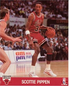 Scottie Pippen Chicago Bulls NBA Hoops 8x10 photo