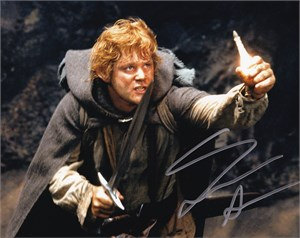 Sean Astin autographed Lord of the Rings 8x10 Sam photo