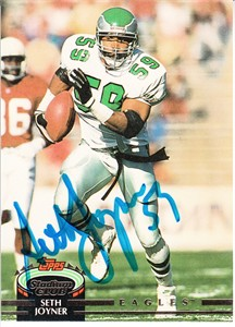Seth Joyner autographed Philadelphia Eagles 1992 Stadium Club card