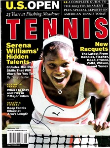 Serena Williams autographed February 2003 Tennis magazine
