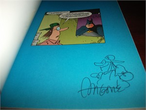 Sergio Aragones autographed & sketched Fanboy trade paperback DC comic book