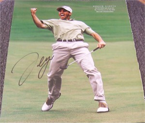 Sergio Garcia autographed 2002 Mercedes Championships 10x13 photo